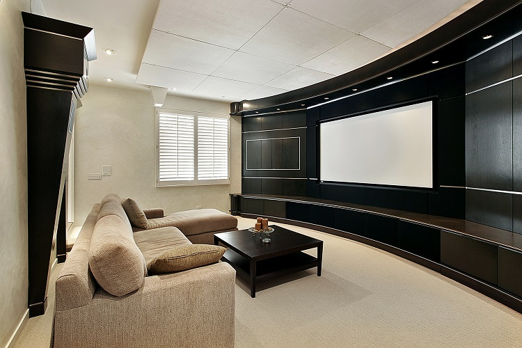 Home Theater Window Problems Solved with Motorized Shades